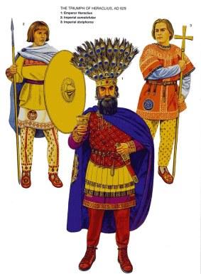 Emperor Heraclius and Byzantine guard units (Palatini)