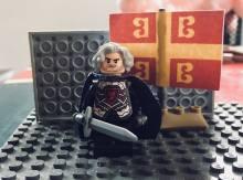 Lego figure of Byzantine general Nikephoros Phokas