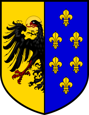 Coat of Arms of Charlemagne as Holy Roman Emperor of the Germans and as King of France
