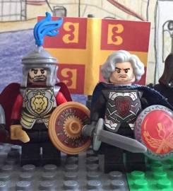 Lego figures of Leo Phokas (left) and his brother Nikephoros II Phokas (right)