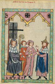 Medieval illustration of Jews