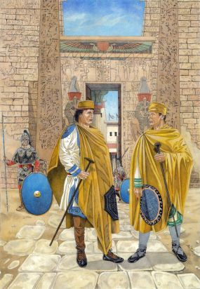 Last Byzantine garrison in Egypt, 7th century