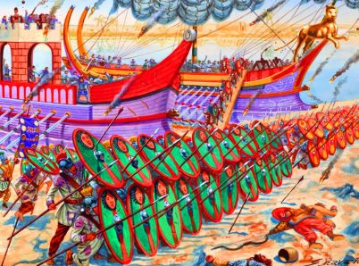 Byzantine legions arrive in North Africa, 533