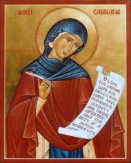 Icon of St. Kassiane the hymnographer
