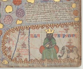 Medieval illustration of the king of Taprobane