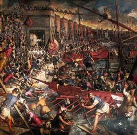 1204- The 4th Crusade, temporary fall of Constantinople