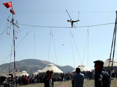 Turkic tightrope walking