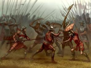 Byzantines of Nicaea clash with the Latins and Alexios and Isaac Laskaris at the Battle of Poimonenon, 1224