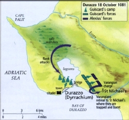 Battle of Dyrrachion map