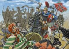 Narses' Byzantine forces defeat the Ostrogoths, 553