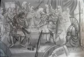Byzantine generals Belisarius and Nurses argue