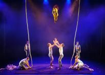 Modern day circus acrobats
