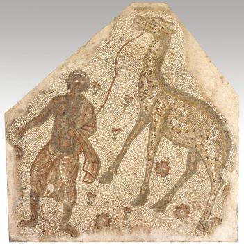 Byzantine mosaic of a giraffe