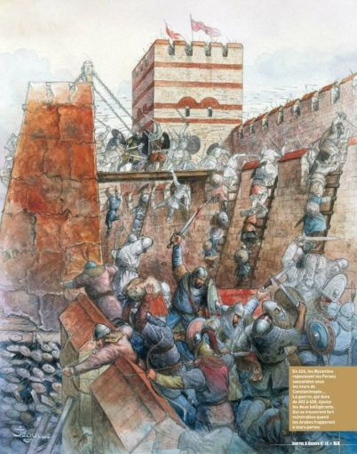 Avars with Persians besiege Constantinople, 626