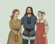 Clothing of Slavic men and women