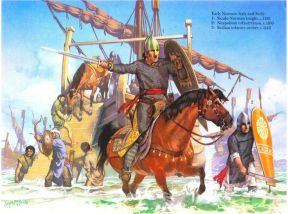 Normans invade Italy, 1071