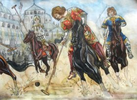 Byzantine Polo (Tzykanion) played outside the Great Palace