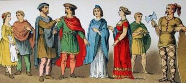 Outfits of the Frankish people