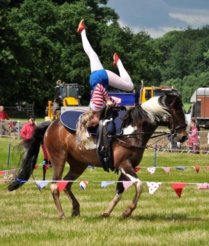 Acrobatics on horse