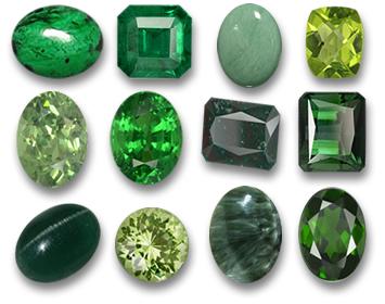 Green gemstones, gift from Constans II