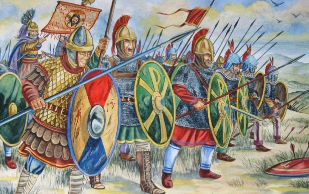 Byzantine army under Tiberius II against the Sassanid Persians