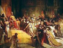 Court of the Latins at Constantinople with Emperor Baldwin I