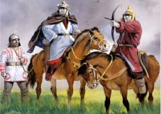 Hephthalite warriors
