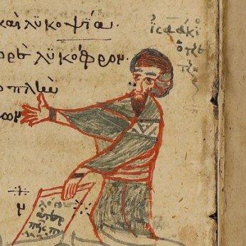 Manuscript depicting John Tzetzes