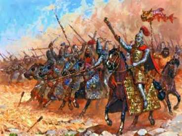 Sassanid fully armoured cavalry