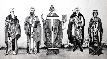 Byzantine clerical and imperial outfits