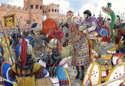 Belisarius and his army attack Rome, 537