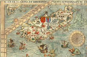 Medieval map of Iceland