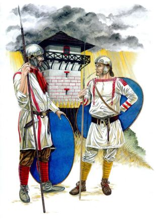 Late Roman/ Early Byzantine Limitanei soldiers
