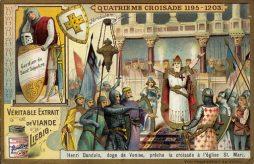 Enrico Dandolo launches the 4th Crusade, 1203