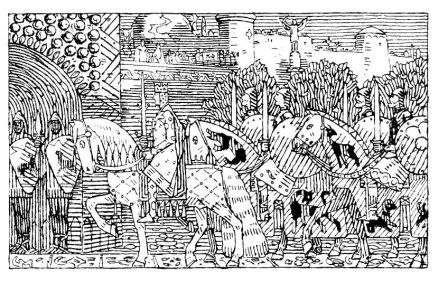 Sigurd of Norway enters Constantinople
