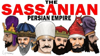 Sassanid Persian characters of the 5th century