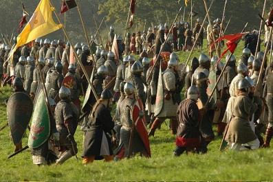 Normans advance at the Battle of Dyrrachion, 1081