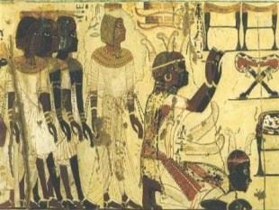 Ancient Egyptian depiction of Nubians