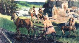 Slavs work the land in the Balkans