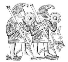 Heruli warriors carving