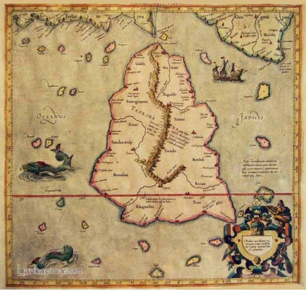 Taprobane Island in Ptolemy's map