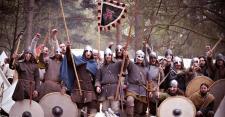 Reenactment of Russian Vikings