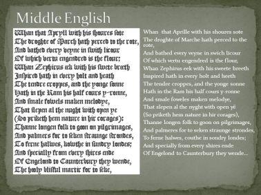 Medieval English language