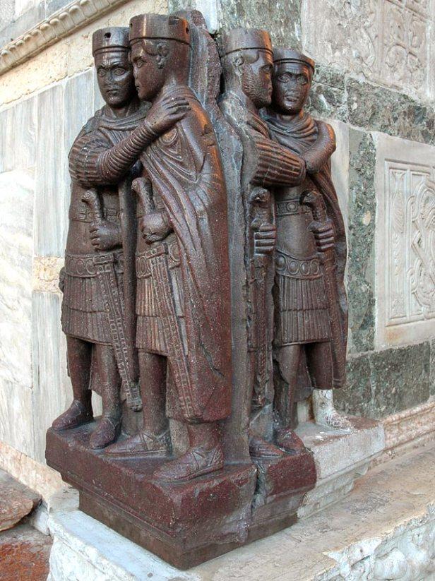 Porphyry statue of the 4 Original Tetrarchs in Venice