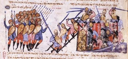 Byzantines attack Arab held Chandax in Crete, 961