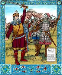 Basil II leads Varangians