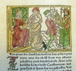 Medieval chronicle of Empress Irene and Charlemagne