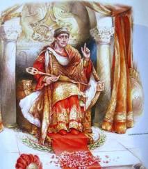 Emperor Theodosius I (r. 379-395), last emperor of the united Roman Empire