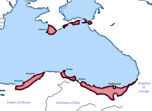 Map of the Byzantine Empire of Trebizond