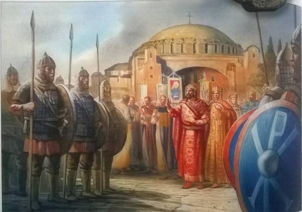 Romanos I in Constantinople